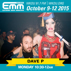 Dave P's closing set at the WKDU 2015 Electronic Music Marathon