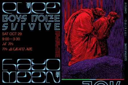 Making Time PURE HALLOWEEN w/ Boys Noize & S U R V I V E – Saturday 10/29 – @ 714 – Philadelphia